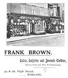 High Street/Frank Brown Tailor Nos 54 and 56 [Guide 1903]