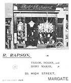 High street/R. Rapson Tailor No 23 [Guide 1903]