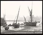 Unloading vessel probably at Broadstairs [Lantern Slide] | Margate History