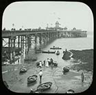 Jetty from Cold Harbour sands [Lantern Slide]  | Margate History