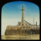 Pier and Lighhouse  hand coloured slide | Margate History