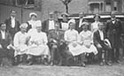 John Henry Brunton with Kingscliffe Hotel staff 1912 [Lyn Offord] Margate History