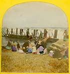 Bathing machines on sands colour   | Margate History
