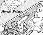 Marine Palace OS Map 1898 with switchback behind baths