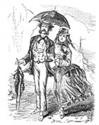 A couple on the sands 1865 | Margate History