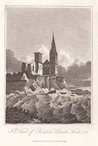 N.E. View of Reculver Church, Kent, 1812 | Margate History