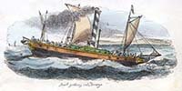 Just getting into a breeze steam yacht 1829 | Margate History