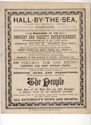 Hall by the Sea programme | Margate History