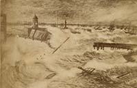 Destruction of Margate Jetty Nov 1877