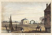 Entrance to Margate Pier> [Polygraph: 1825-1828