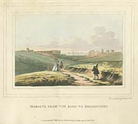 Margate from the Road to Broadstairs Noel 1797 | Margate History