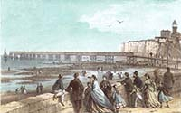 Nelson Margate Jetty from the Pier 1867