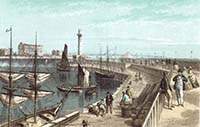 Nelson Pier and Lighthouse 1867