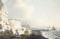 A View of Margate Pier and the Two Sisters 1785