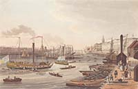 View of the Customs House London Havell 1820