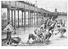 Margate Jetty in the Season – Fishing for Coppers 1893 | Margate History