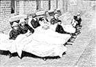 Royal Seabathing Hospital 1882: Boy Patients in Cloister | Margate History