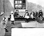 Royal Seabathing Hospital 1882: Girl Patients in Cloister of Quadrangle | Margate History