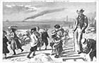 Children Helping the Preacher on the Margate Sands 1870 | Margate History