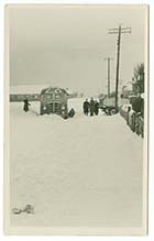 Millmead Road Coach stuck in snow 1956 | Margate History