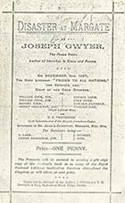 Disaster at Margate/Poem by Joseph Gwyer | Margate History