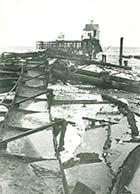 Jetty and lifeboat house after storm | Margate History