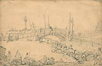 Drawing of Iron Bridge ca 1856 Margate History