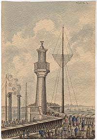 Pier and Lighthouse 1839 [Anne Rushout] | Margate History